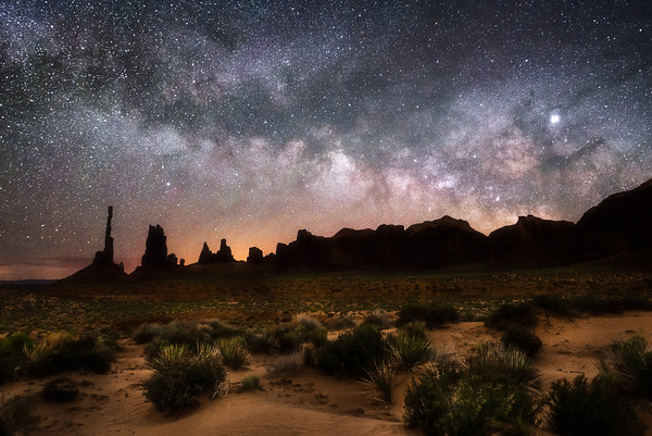 Milky Way Rise at the Totem Pole