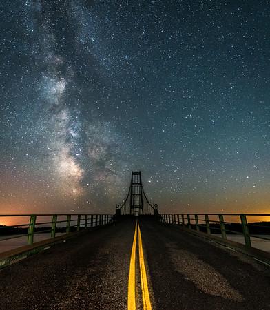 Deer Isle Bridge at Night