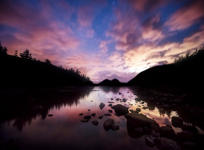 Night Reflections at Jordan Pond