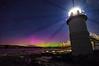 Aurora At Marshall Point Light