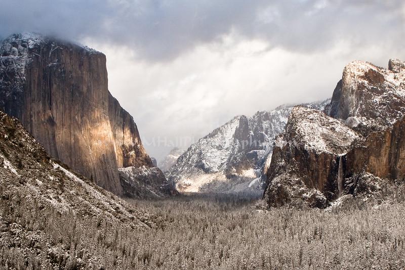 Winter View of Yosemite Valley, Yosemite National Park