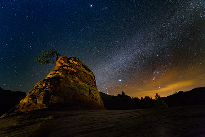 Zion Hoodoo with Milky Way