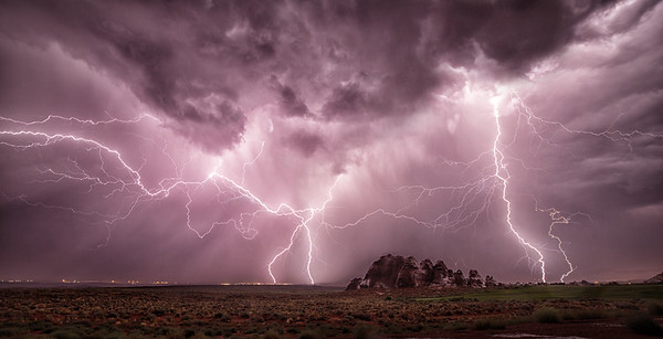 Lightning Over Sand Hollow