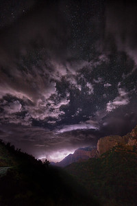 Lightning over Kolob Canyon, Zion National Park