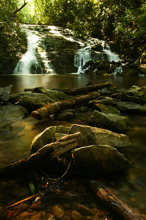 Indian Creek Falls, Great Smoky Mountains National Park, North Carolina, USA