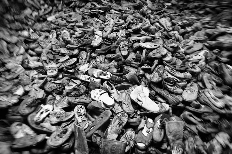 Schuhe der Ermordeten