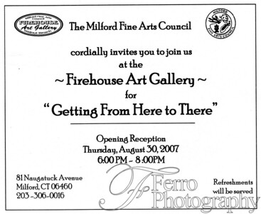"""Idle Approach - Featured in """"Getting From Here to There"""" exhibit Milford Firehouse Art Gallery 0706"""