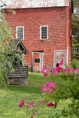 """Red Barn - Featured in the """"Buildings"""" exhibit - Milford Firehouse Art Gallery 1008"""
