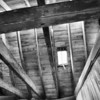 Rafters<br /> <br /> Beams, laths and sarking - all above us.