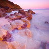 Red Rock Sunset (ii)<br /> <br /> A landscape of sunset, rocks and an ebbing tide.