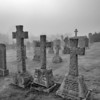 Kells Churchyard<br /> <br /> A sombre place particulalry in the mist - a graveyard like no other with wonderful examples of gravestones through the generations