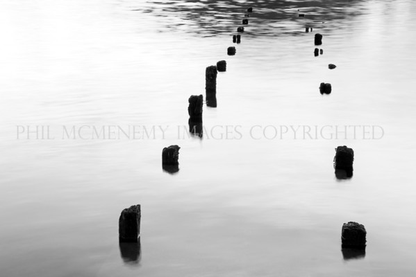 Old Jetty<br /> <br /> Remains of the pier - into the deep.