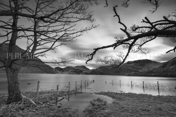 Ullswater Fence (ii)<br /> <br /> Last rays of the day as the sun disappears over Ullswater