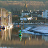 Kirkcudbright<br /> <br /> Winter scene across the still water to the marina and historical fishing town of Kirkcudbright