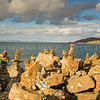 Towers of Skye<br /> <br /> How did this start??? there are hundreds of these wee towers all set in a jumble of water tossed boulders along the coast - with a delightful view across to Lewis and Harris - nice.