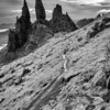 Skyline of Storr (i)<br /> <br /> The path back down to the Old Man and his friends, my boys did so well to walk this far - I was breathless, breathless!