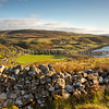 Uig Wall<br /> <br /> Sundown and a view down the valley into Uig and an oft-overlooked dry stane dyke.