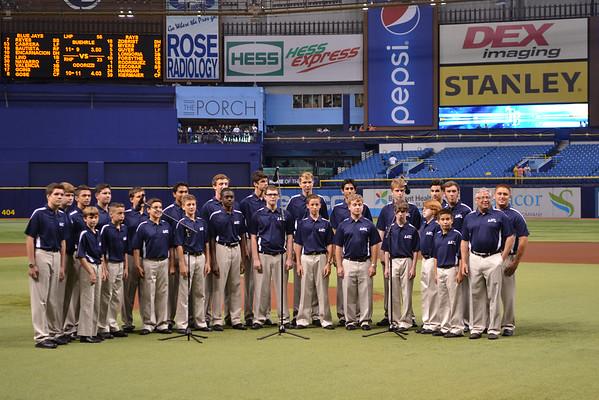 Boys' Singing Group at Tampa Bay Rays Game