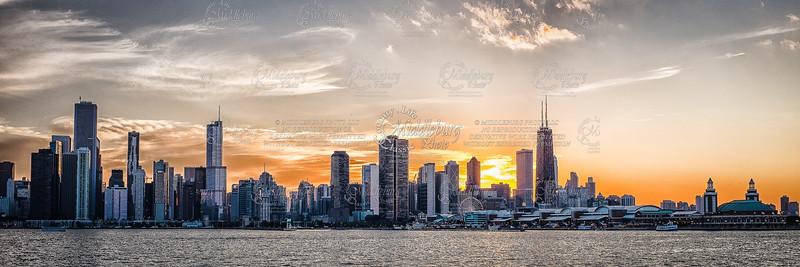 Chicago at Sunset - 2013