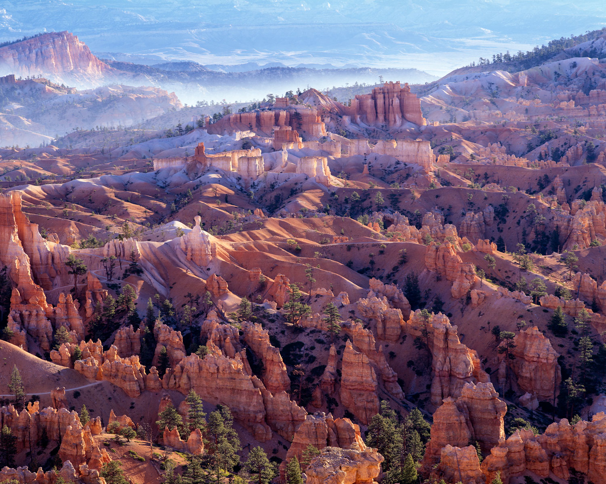 The Grand Staircase, Early Morning Mist, Bryce Canyon, Utah