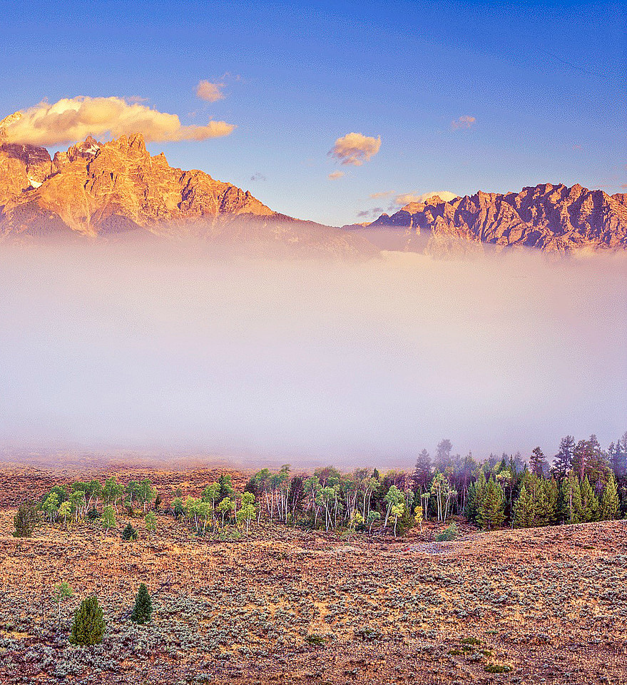 Cloud Veil, Grand Tetons, Study 2