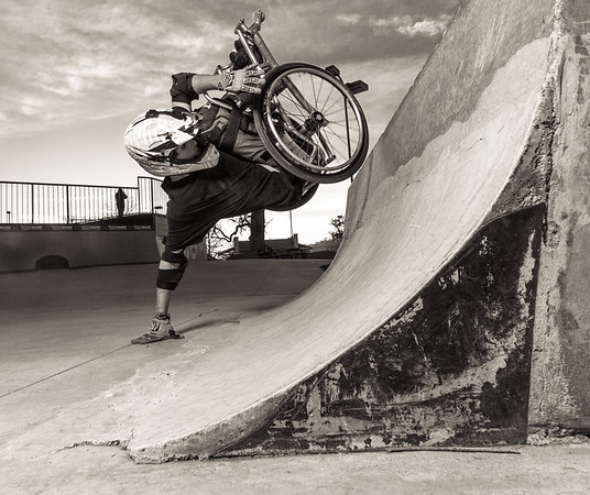 Handplant WCMX wheelchair Blake Simpson.