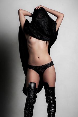 Nude Muslim woman.