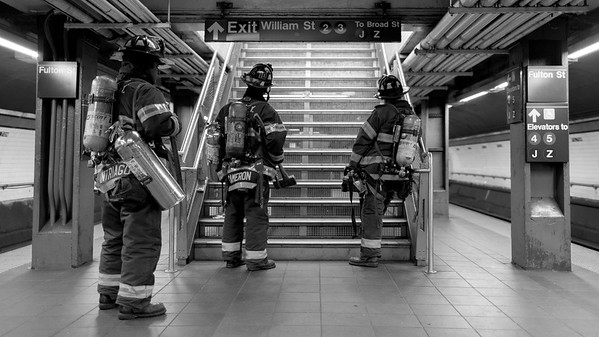 NYFD street photography by Aaron Paul Rogers.