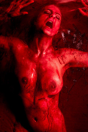 Bloody Nude fine art NYC photography by Aaron Paul Rogers.