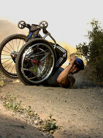 Off road wheelchair riot mob aaron paul rogersfine art photography los angels ca riotmob