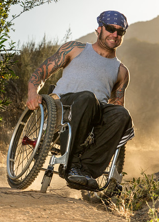 Off road wheelchair riot mob aaron paul rogersfine art photography los angels ca riotmob