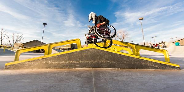 WCMX skate park rail woodward