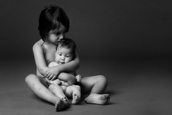New Baby sister Photography by Aaron Paul Rogers.
