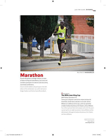 LA marathon article