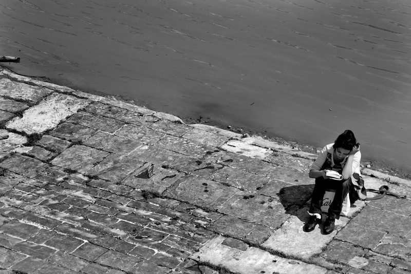 Reader By Water