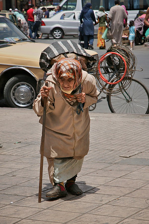 Aged Lady with Cane