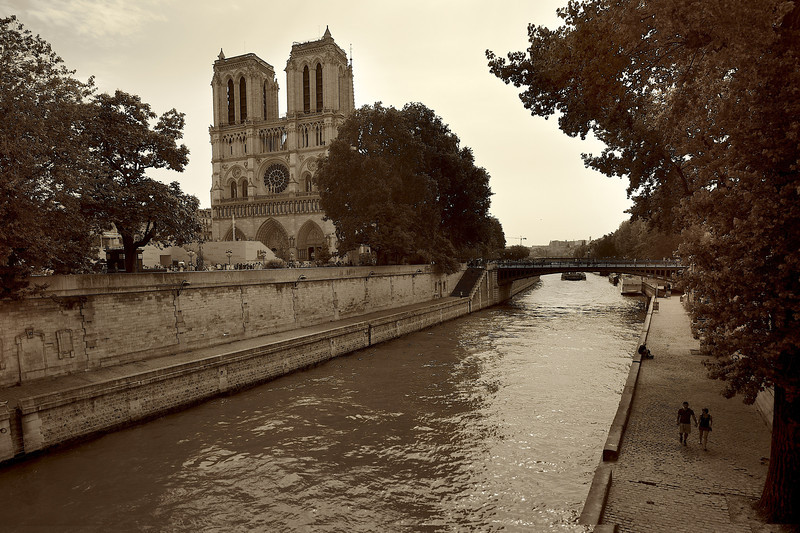 Walking by Notre Dame