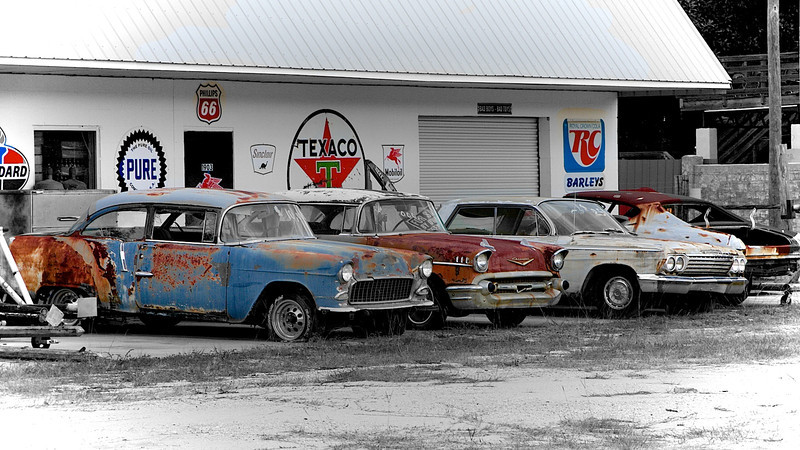 Beat-up Chevy's