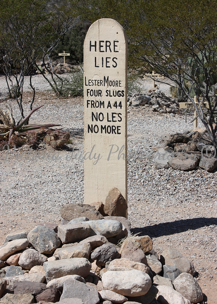 Boothill Graveyard, Lester Moore - Tombstone, Arizona - 2010