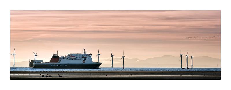 Ferry through the Mersey