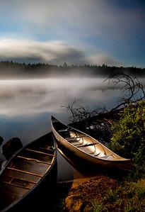 moonlit Forked Lake