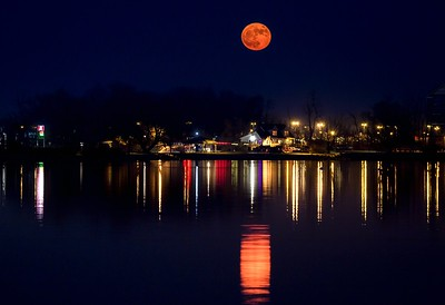 supermoon over canandaigua