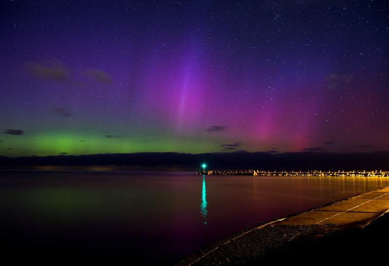 Aurora <br />    looking northeast from webster park
