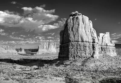 western landscape in B&W