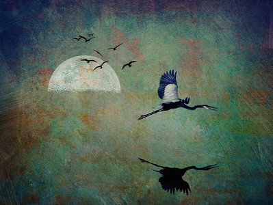 Blue Heron Moon
