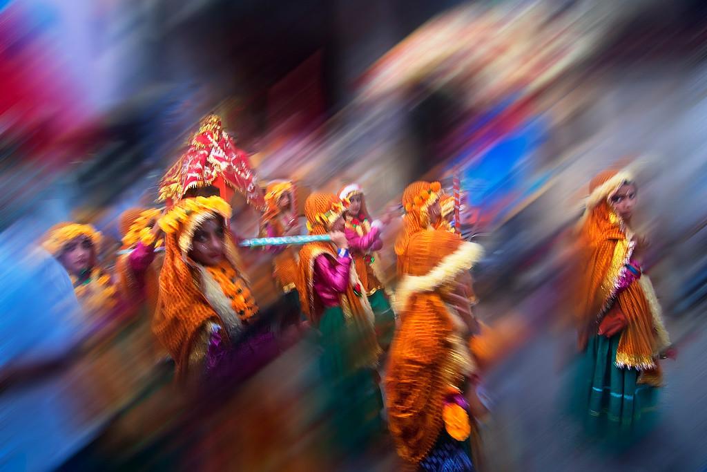 Navratri - Dussehra Festival Procession in Uttarakhand INDIA