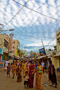Mammatus Clouds over Kanakumari Temple Street in India