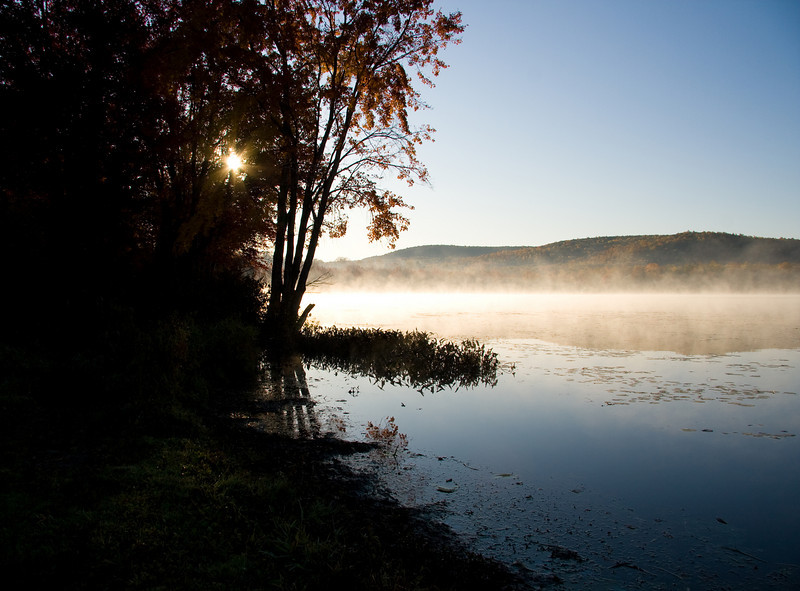 Early Autumn morning at the Cayuta Lake boat launch
