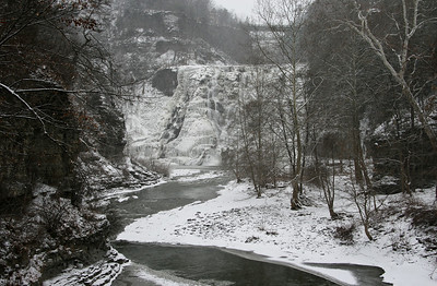 Ithaca Falls in Winter