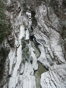 Watkins Glen  State Park in Winter